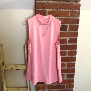 Lavender Field large pink blouse sleeveless